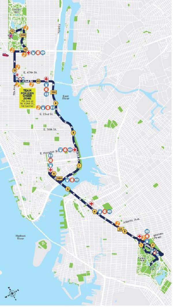 Amerika Karte New York.New York Halbmarathon Laufreise Reisebeschreibung